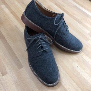 """Pasadena"" Grey Wool Flannel Oxfords"
